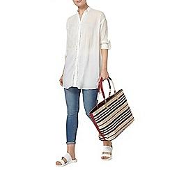 Dorothy Perkins - White trim beach shirt