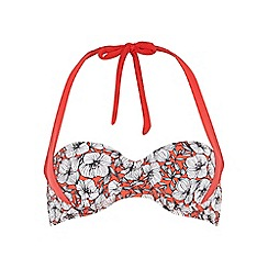 Dorothy Perkins - Red floral two way bikini top