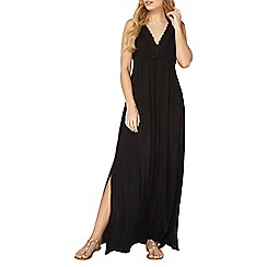 Dorothy Perkins - Black crochet maxi dress
