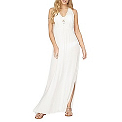 Dorothy Perkins - White crochet maxi dress