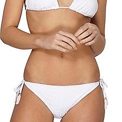 Dorothy Perkins - White crochet tie side bikini bottoms