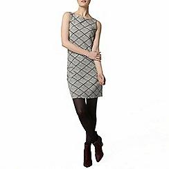 Dorothy Perkins - Black diamond pinafore dress