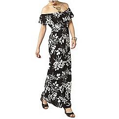 Dorothy Perkins - Floral ruffle bardot maxi dress