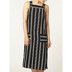 Dorothy Perkins - Navy stripe pinafore midi dress