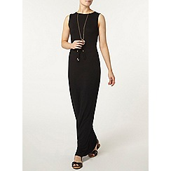 Dorothy Perkins - Black eyelet maxi dress