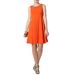 Dorothy Perkins - Orange embellished crepe fit and flare dress
