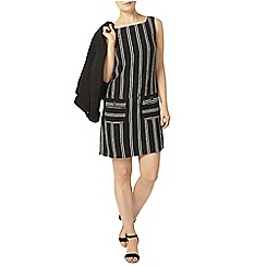Dorothy Perkins - Navy stripe pinafore dress