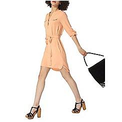 Dorothy Perkins - Peach shirt dress