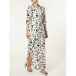 Dorothy Perkins - Ivory animal print maxi dress