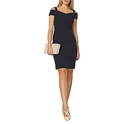 Dorothy Perkins - Navy bardot pencil dress