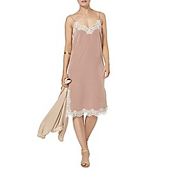 Dorothy Perkins - Taupe slip dress