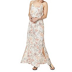 Dorothy Perkins - Peach floral double layer maxi dress