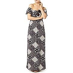 Dorothy Perkins - Printed bardot ruffle maxi dress