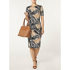 Dorothy Perkins - Palm printed bodycon dress