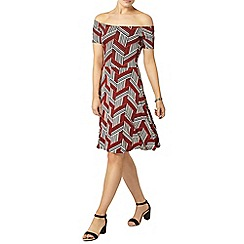 Dorothy Perkins - Red geo printed dress