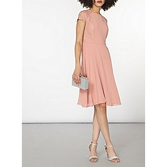 Dorothy Perkins - Lace chiffon fit and flare dress