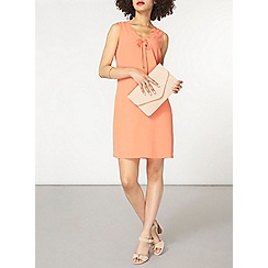 Dorothy Perkins - Coral tie detail shift dress
