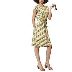 Dorothy Perkins - Yellow and stone v back midi dress
