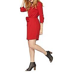 Dorothy Perkins - Red ponte shirt dress