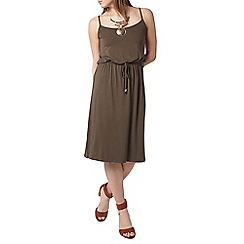 Dorothy Perkins - Khaki camisole midi dress