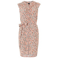 Dorothy Perkins - Coral ditsy sleeveless dress