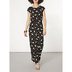 Dorothy Perkins - Black daisy print maxi dress