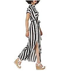 Dorothy Perkins - Short sleeve stripe maxi shirt dress