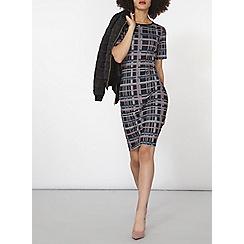 Dorothy Perkins - Check print bodycon dress