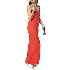 Dorothy Perkins - Dark coral strappy maxi dress