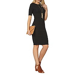 Dorothy Perkins - Black animal textured bodycon dress
