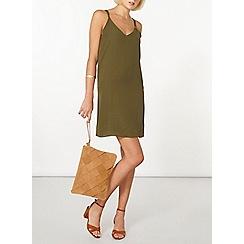 Dorothy Perkins - Khaki camisole slip dress