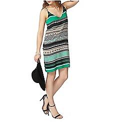 Dorothy Perkins - Green chain slip dress