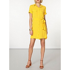Dorothy Perkins - Yellow zip front shirt dress