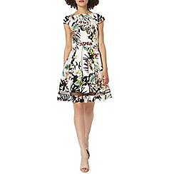 Dorothy Perkins - Tropical print fit and flare dress