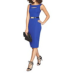 Dorothy Perkins - Tall belted cobalt pencil dress