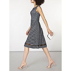 Dorothy Perkins - Mono spotty fit and flare dress