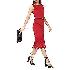 Dorothy Perkins - Floral lace hem pencil dress