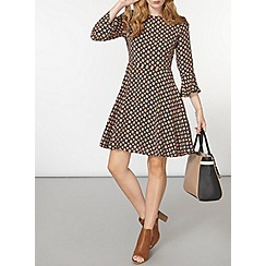 Dorothy Perkins - Star print fit and flare dress