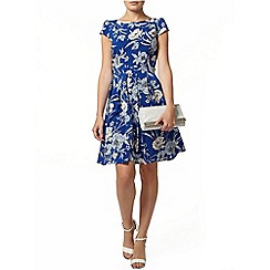 Dorothy Perkins - Blue linear fit and flare dress