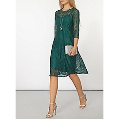 Dorothy Perkins - Green lace dress