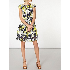 Dorothy Perkins - Floral cotton fit and flare dress