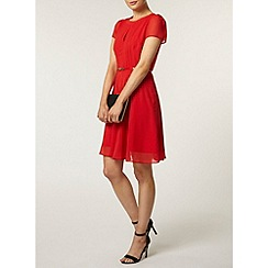 Dorothy Perkins - Red pintuck dress
