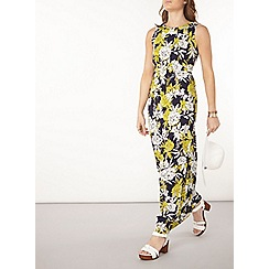 Dorothy Perkins - Navy and lime maxi dress