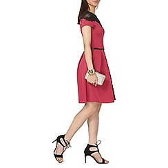 Dorothy Perkins - Floral lace trim fit and flare dress
