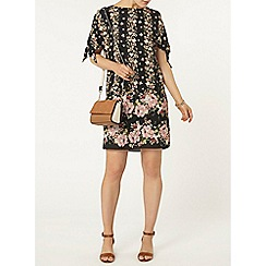 Dorothy Perkins - Floral tie sleeve shift dress