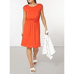 Dorothy Perkins - Red v back midi dress