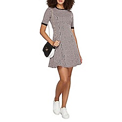 Dorothy Perkins - Tall pink geo spot fit and flare dress