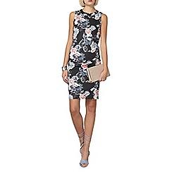 Dorothy Perkins - Floral scuba zip dress