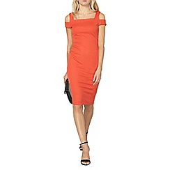 Dorothy Perkins - Orange bandage bodycon dress