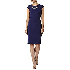 Dorothy Perkins - Blue embellished pencil dress